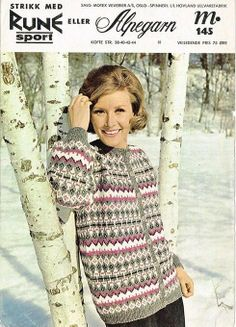 Hovland 145 Norwegian Knitting, Sweater Cardigan, Knitting Patterns, Turtle Neck, Sweaters, Cardigans, Sport, Blouse, Crochet