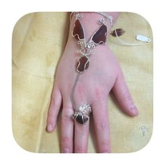 Butterfly Bracelet with attached Ring