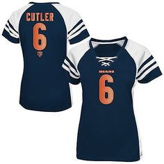 girls youth chicago bears jay cutler nike navy blue game jersey