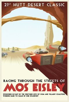 Racing through the streets of Mos Eisley!