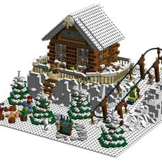 Winter Ski Center The Winter Ski Center has 1747 piecesand is a nice addition to the winter Creator series. I have been following this series since the beginning and I am of the opinion that a winter ski center is still missing. Many details and harmonious colors were very important to me during the implementation. In addition, the snow provides for a fantastic winter atmosphere. For this reason I have also built the fir trees with bricks, so that they look also snowy. The central focus is…