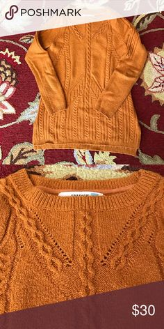 Anthropologie Sweater So soft! Excellent condition. Cotton/acrylic/poly/spandex blend. Relaxed fit. No flaws. Anthropologie Sweaters