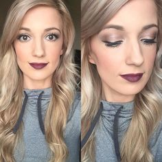 Love this look by @butfirstmakeup: Addiction Shadow Palette 2 Sleek Lip Stain Pompous Lip Liner