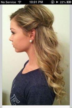Homecoming hair? simple yet cute