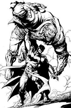 Batman vs Solomon Grundy by David Finch