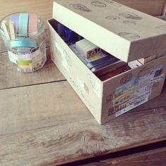 Box of goodies! Stamps and masking tapes