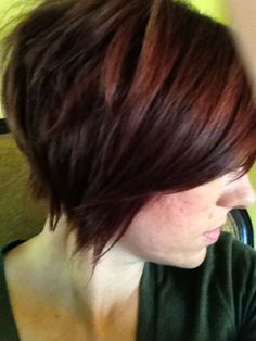 red pixie cut by #TeraLau #SalonAries