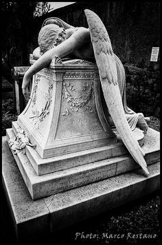 L'Angelo del dolore (Angel of Grief)  at the Cimitero acattolico - Non-Catholic Cemetery in Rome - 2011