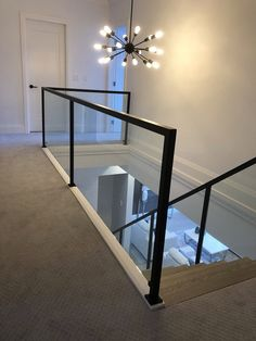 Interior Railings Vancouver - Aluminum Guardrail & Handrails (Commercial / Residential) - Metro Vancouver Railings Glass Stair Balustrade, Glass Railing, Interior Railings, Glass Stairs, Modern Glass, Future House, Vancouver, Entryway Tables, Commercial