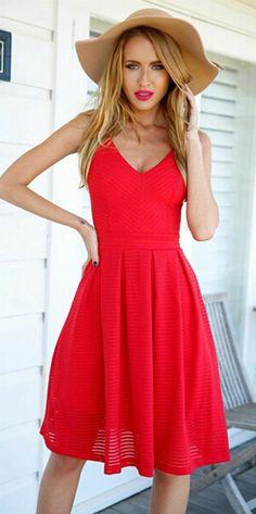 Spaghetti Strap Backless Solid  Sleeveless Short Dress