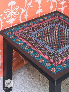 Indian Border Stencil Set Furniture and by royaldesignstencils