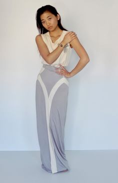 Paneled Jersey Maxi Skirt#Repin By:Pinterest++ for iPad#