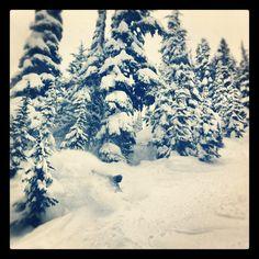 """Matt Belzile shredding #Whistler. Photo from """"jakekuzyk"""" instagram"""