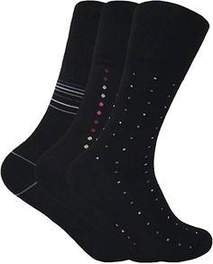 5dba58e77b21 Mens 3 pairs loose wide non elastic top antibacterial anti sweat bamboo  socks in black and