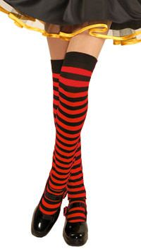 24557d788663a Girls Red and Black Striped Over the Knee Socks,#Red#Girls#Black ...