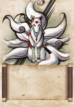 nine tailed kitsune by Chewyli.deviantart.com on @deviantART