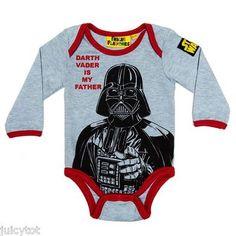 NEW STAR WARS Darth Vader Baby Boys Bodysuit BNWT Fabric Flavours vest onesie