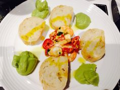 Chilli Prawn and Avocado Purée starter