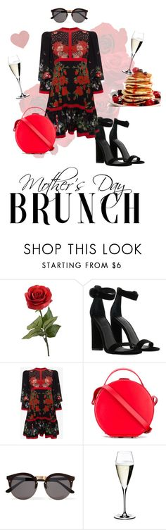 """Mother's Day Brunch"" by kat79 ❤ liked on Polyvore featuring Kendall + Kylie, Alexander McQueen, Nico Giani, Illesteva and Riedel"