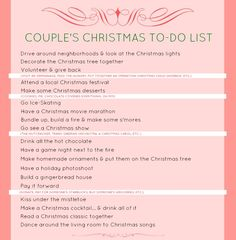 There are lots of super fun winter date ideas in this Couple's Christmas To-Do List.