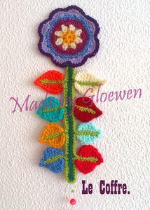 crochet flower room