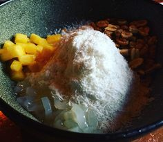 Taiwanese Coconut Snow Ice with Pineapple, Coconut Jelly & Candied Peanuts