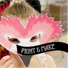 FREE! Printable Flamingo Mask - [pretty pink mask] by Style My Party www.stylemyparty.co.uk Free for a while! Fun for kids parties & kids crafts