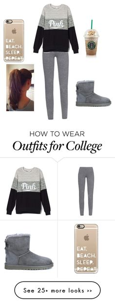 """Winter outfit"" by kimberlylovesbatman on Polyvore featuring MaxMara, UGG Australia and Casetify"