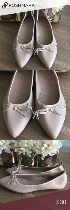 FOREVER 21 NUDE POINTY BALLET FLATS 💗Condition: NWT 💗Smoke free home/Pet hair free 💗No trades, No returns. No modeling  💗Shipping next day. Beautiful package! 💗I LOVE OFFERS, offer me! 💗ALL ITEMS ARE OWNED BY ME. NOT FROM THRIFT STORES 💗All transactions video recorded to ensure quality.  💗Ask all questions before buying Forever 21 Shoes Flats & Loafers