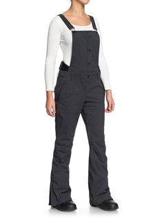 Women's Roxy Torah Bright Vitaly Bib Pants 2019 - X-Large Black Torah Bright, Dobby Weave, Slim Thighs, Range Of Motion, Suspenders, Roxy, Blazer Jacket, Zip Ups, Overalls
