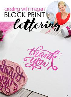 Hi there! This is Megan from Makewells, and I'm here today with a super fun lettering tutorial. I'm going to show you how to take ...
