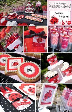 Ladybug Party Decorating Ideas    #ladybug #birthdayparty #babyshower #Modern #Ladybug