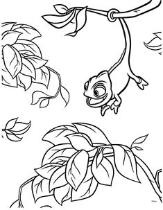 tangled coloring pages - Google-søgning