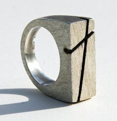 sterling silver cast ring with Cross, price on request. by Craig Moore