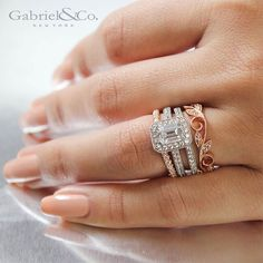Match your style with Gabriel & Co. Engagement Rings, Wedding Bands and Fine Jewelry. Halo Diamond Engagement Ring, Solitaire Rings, Vintage Design, Round Diamonds, Gabriel, Fine Jewelry, Gold Jewellery, Bridal Jewelry, Wedding Rings