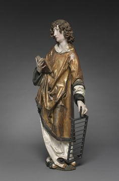 Saint Lawrence, 1502-1508 Tilman Riemenschneider (German, c. 1460-1531) lindenwood with polychromy and gilding, Overall - h:93.80 w:38.50 d:21.80 cm (h:36 7/8 w:15 1/8 d:8 9/16 inches).