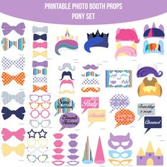 My Little Pony MLP Party Printable Photo Booth PhotoBooth Props. Only $4.99! Buy it now at www.amandakeyt.com. Buy the app! Enjoy life!