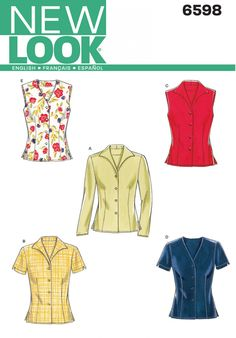 New Look 6598 Misses Top Sewing Pattern