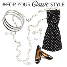 Classic style featuring Silpada long pearl necklace, sterling silver bracelets and posts.