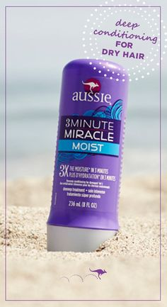 3 Minute Miracle Moist for dry hair is a deep conditioner treatment available at any drugstore with 3X the moisturizing power. Transform dry hair into silky, shiny waves in 3 short minutes with a nourishing and intensely hydrating formula, made with a touch of Australian Aloe, Jojoba and Sea Kelp. Work into clean, wet hair. Use the next 3 minutes to plan your next adventure. Then rinse, dry and get ready for all those compliments. What are you waiting for?