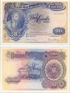 20 escudos,  1919