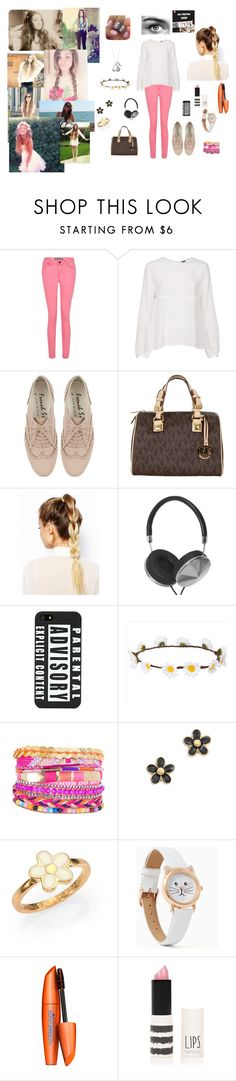 """Marzia inspired"" by fanatic-fangirl ❤ liked on Polyvore featuring Boutique, MICHAEL Michael Kors, ASOS, Hershey's, Marc by Marc Jacobs, COVERGIRL, Topshop and Eyeko"