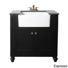 Elements Inch Granite Top Single Sink Bathroom Vanity Overstock - 36 inch bathroom vanities with tops for bathroom decor ideas