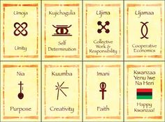 2- These are little Kwanzaa cards showing the seven principles. You can print out two sheets and play a game of memory or use your creativity to come up with your own game.
