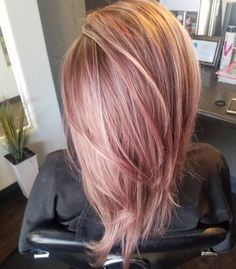 iridescent rose gold hair color