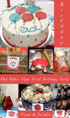 Radio Flyer Birthday Party on http://pizzazzerie.com