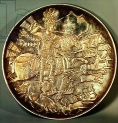 Sassanid silver plate.