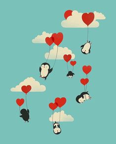 Flying Penguins - wallpaper For iPhone Free Phone Wallpaper, Retro Wallpaper, Wallpaper Backgrounds, Phone Backgrounds, Mobile Wallpaper, Illustration Mignonne, Cute Illustration, Games Tattoo, Wallpapers En Hd