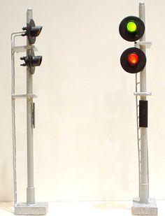 ho gauge lighting | South Bend Signal Company HS2 Two Target Signal HO Scale