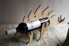 WineOSaur Wooden Dinosaur Wine Rack by TheBackPackShoppe on Etsy